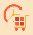 time transport and handling of goods vector image
