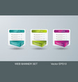 web banners design for options infographic vector image vector image