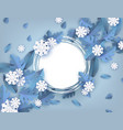 winter natural banner vector image vector image