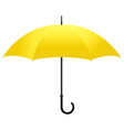 yellow umbrella isolated vector image vector image