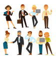 business people while working time template vector image