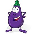 eggplant cartoon isolated on white background vector image