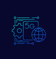 5g network icon linear vector image vector image