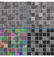 Abstract bright colored squares background mosaic vector image vector image