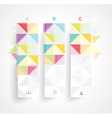 Abstract Minimal Ifographic Design on rhombus vector image vector image