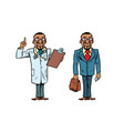 african doctor and businessman vector image vector image