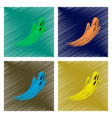 assembly flat shading style icon ghost vector image vector image