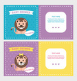 bashower invitation card templates for baboy vector image