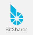 bitshares bts blockchain criptocurrency logo vector image vector image