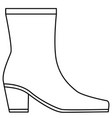 boot shoe vector image