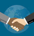 business people shaking hands vector image vector image