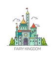cartoon fairy tale castle or flat kingdom fort vector image vector image