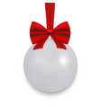 christmas ball with ribbon and a bow vector image