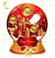 Christmas snow globe vector image vector image