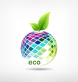 Colorful fruit ecology vector image vector image