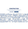 construction banner design vector image