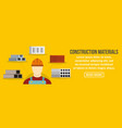 construction materials banner horizontal concept vector image vector image