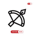 crossbow icon vector image vector image