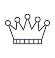 crown line icon sign on vector image vector image