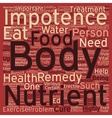 Cure ED Eat Healthy text background wordcloud vector image vector image