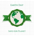 Earth Day realistic circle Holiday Banner Template vector image