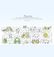 farm advertising flat line art vector image vector image