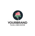 flower rose logo design concept template vector image vector image