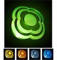 Flower vibrant emblems vector image vector image