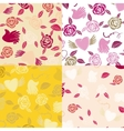 Four Valentine seamless patterns vector image