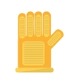 glove protection industrial worker vector image