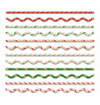 golden ropes set vector image