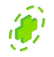 Green plus symbol in circle vector image