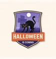 halloween is coming patch halloween retro badge vector image vector image