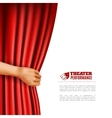 Hand Opening Theatre Curtain vector image vector image