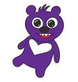 happy teddy bear vector image vector image