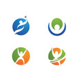 human character logo sign health care logo sign vector image vector image