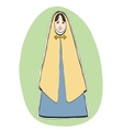 Mary the mother of Jesus Christian Christmas vector image vector image