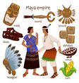 maya empire people and personal belongings vector image vector image