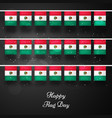 mexico flag day background vector image