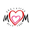 mothers day card best mom thank you a pink vector image