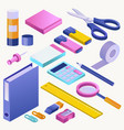 office supply stationery school tools icons vector image vector image
