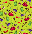 pattern of womens accessories and shopping vector image