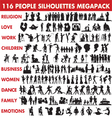 People silhouettes collection vector image vector image