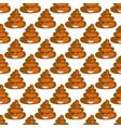 poo emoji pattern poop fun seamless background vector image