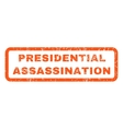 Presidential Assassination Rubber Stamp vector image vector image