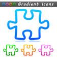 puzzle design symbol icon vector image