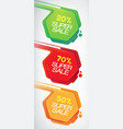 sale banners set discounts and offers for your vector image