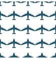 Seamless pattern with blue airplanes vector image vector image