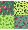 Seamless Patterns with leaves and christmas toys vector image vector image