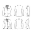simple outline drawing of a blazer vector image